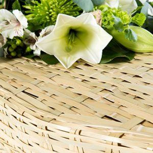Bam Eco Detail - Square Wicker Coffins by Carl Hogg Funerals Golborne