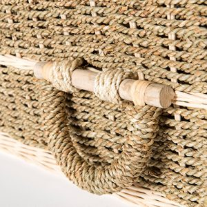 Pandanus Trad Handle - Square Wicker Coffins by Carl Hogg Funerals Golborne