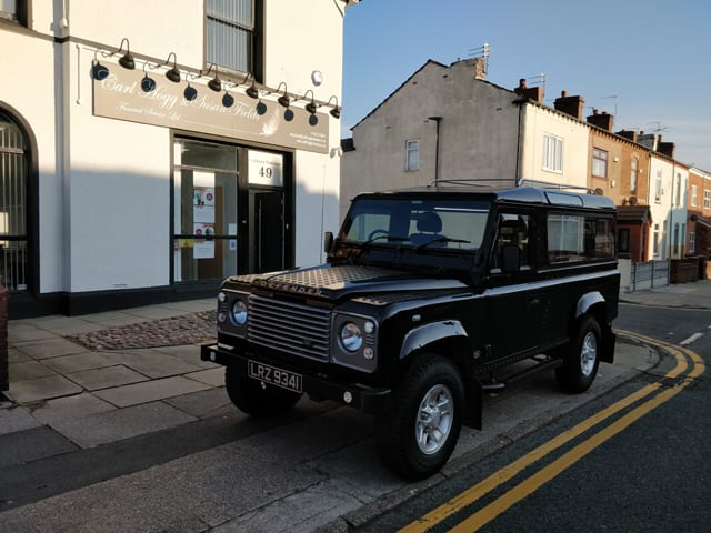 Bespoke Land Rover Hearse Funerals by Carl Hogg Funerals Golborne