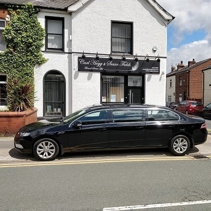 Luxury hearses by Carl Hogg Funerals Golborne