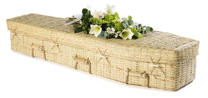 Bamboo Eco Traditional Wicker Coffins by Carl Hogg Funerals Golborne