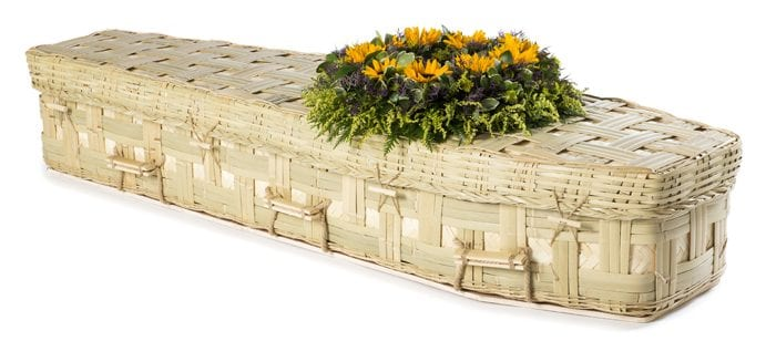 Bamboo Lattice Traditional Wicker Coffins by Carl Hogg Funerals Golborne