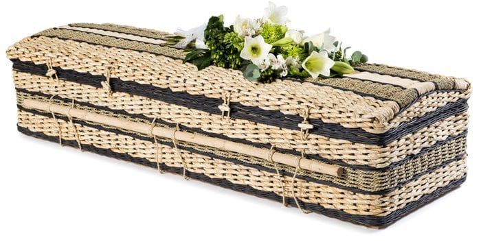 Banana Casket Ebony Wicker Coffins by Carl Hogg Funerals Golborne