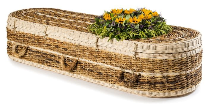 Banana Round Wicker Coffins by Carl Hogg Funerals Golborne