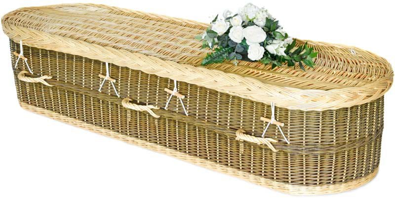 English Willow Moorland Round - Natural Green Wicker Coffins by Carl Hogg Funerals Golborne