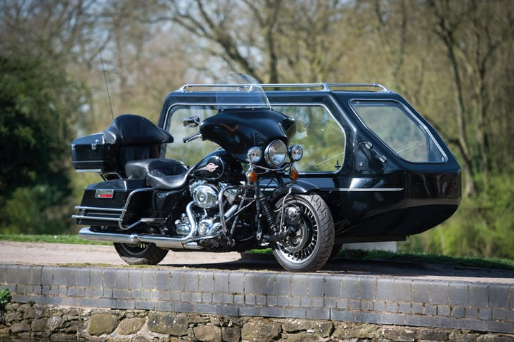 Harley Davidson Electra Glide Funerals by Carl Hogg Funeral Services Golborne