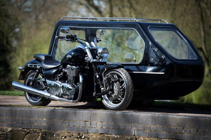 Triumph Thunderbird Funerals by Carl Hogg Funeral Services Golborne