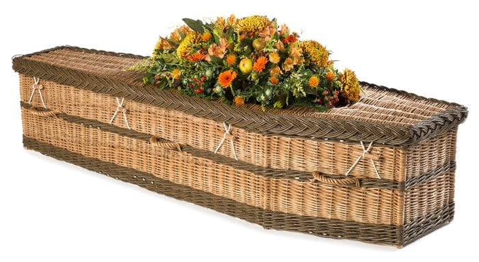 Willow English - Buff And Brown Wicker Coffins by Carl Hogg Funerals Golborne