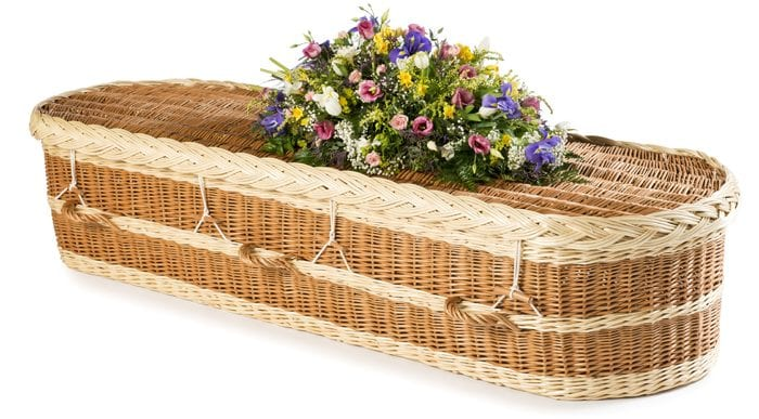 Willow English Round - Buff And Natural Wicker Coffins by Carl Hogg Funerals Golborne