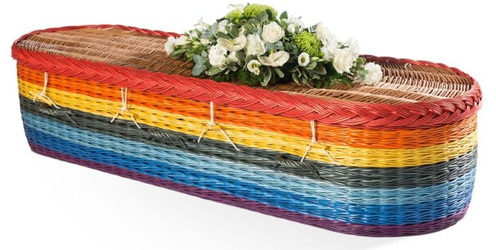 Willow English Round - Colours Wicker Coffins by Carl Hogg Funerals Golborne