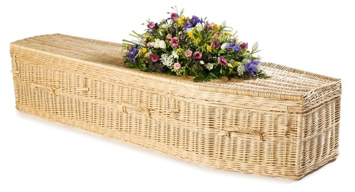 Willow Highsted White Wicker Coffins by Carl Hogg Funerals Golborne